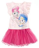 Nickelodeon 2-Pc. Shimmer and Shine T-Shirt & Scooter Skirt Set, Little Girls