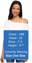 Michael Stars S/S Slub Off-Shoulder Dolman Women's Short Sleeve Pullover