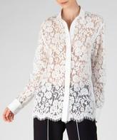 Atm Cotton Lace Shirt - Snow