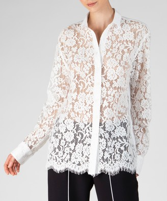 Atm Cotton Lace Shirt - Snow