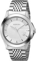 Gucci Men's G-Timeless YA126401 Silver Stainless-Steel Swiss Quartz Watch