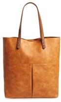 Sole Society 'Clifton' Faux Leather Tote - Brown
