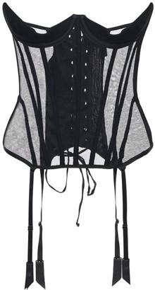 Kiki de Montparnasse Silk Tulle Under-bust Corset