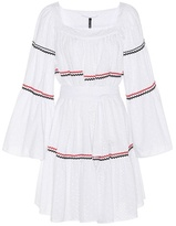 Lisa Marie Fernandez Short Peasant eyelet dress