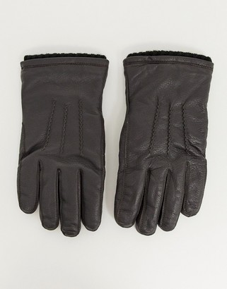 French Connection classic leather gloves