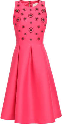 Kate Spade Embellished Pleated Woven Dress