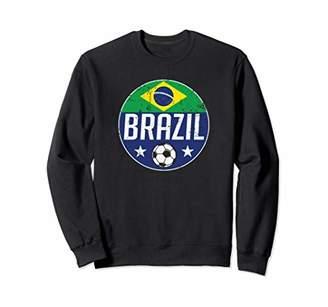 Brazil Football Soccer Team Supporter Flag Jersey Rio Sweatshirt