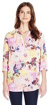 NYDJ Women's Pop Over Woven Blouse