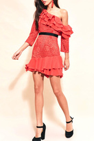 For Love & Lemons Chianti Ruffle Dress
