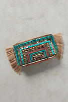 Anthropologie Beaded Fringe Clutch
