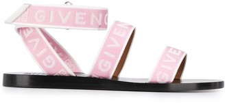 Givenchy Logo Strap Flat Sandals