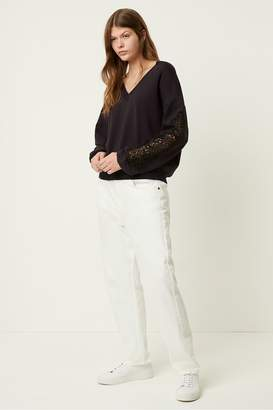 French Connection Ullabelle Lace V Neck Jumper