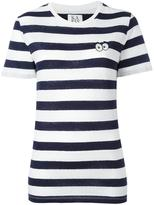 Zoe Karssen striped 'Eyes' T-shirt - women - Cotton/Linen/Flax - XL