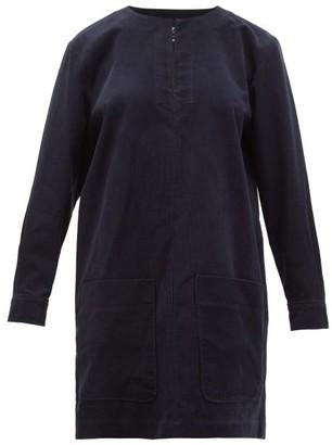 A.P.C. Andrea Cotton-blend Corduroy Mini Dress - Navy