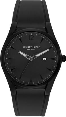 Kenneth Cole New York Men's Black SiliconeStrap Watch
