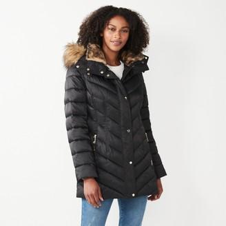 Nine West Women's Faux-Fur Hood Puffer Jacket