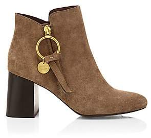 See by Chloe Women's Louise Block-Heel Suede Ankle Boots