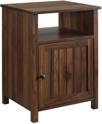Hewson 18In Grooved Door Side Table