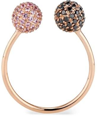 Ri Noor Black Diamond & Pink Sapphire Toi Moi Ring