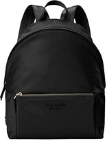 Kate Spade The Nylon City Pack Large Backpack (Black) Backpack Bags