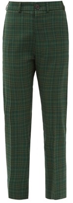 Vivienne Westwood Tartan-check Wool-twill Suit Trousers - Green