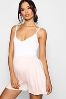 boohoo Maternity Lauren Over The Bump Flippy Shorts