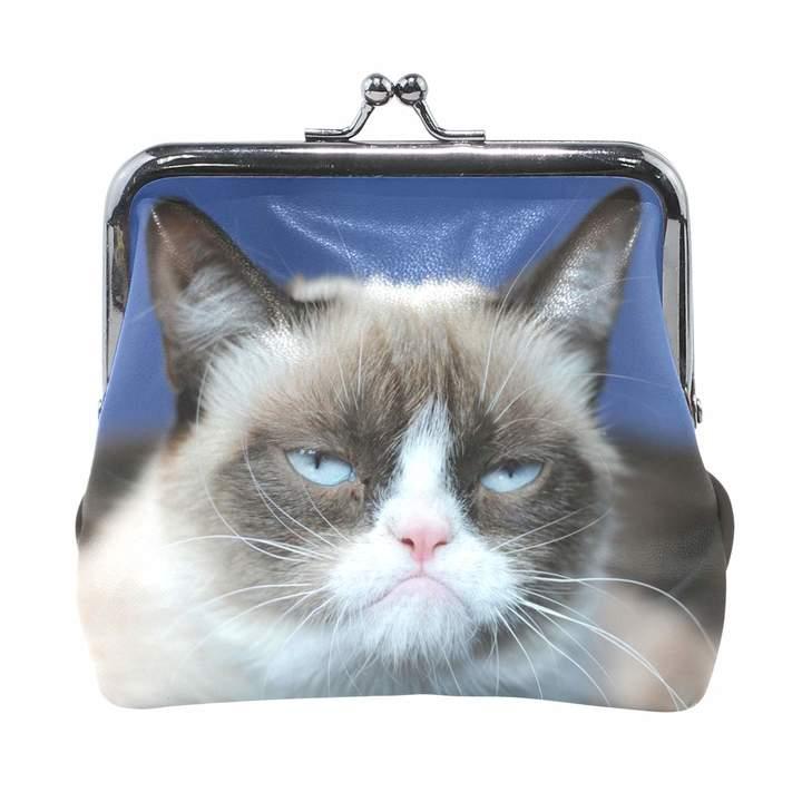 6782441f6e15 OuLian Coin Purse Grumpy Cat Womens Wallet Clutch Bag Girls Small Purse