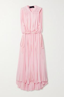 Proenza Schouler Cape-effect Gathered Jersey Dress - Pink