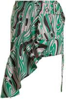 Marques Almeida MARQUES'ALMEIDA Asymmetric lava-jacquard mini skirt