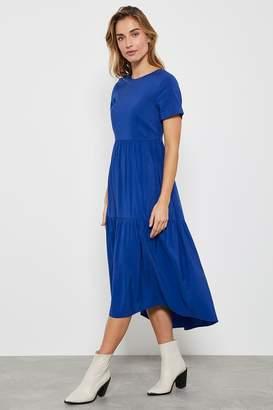 Mint Velvet Womens Azure Midi Trapeze Dress - Blue