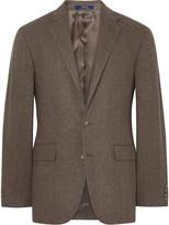 Polo Ralph Lauren Brown Herringbone Wool Blazer
