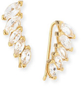 Jennifer Zeuner Jewelry Hollis Marquise White Sapphire Cuff Earrings