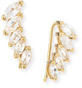 Jennifer Zeuner Jewelry Hollis Marquise White Sapphire Cuff Earrings
