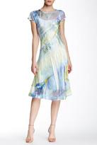 Komarov Lace Inset Keyhole Dress
