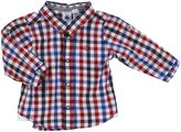 Petit Bateau 'Forti' Check Shirt (Baby) - Blue/Red-24 Months