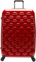 Lulu Guinness Hard Sided 4-Wheel Large Case - Red