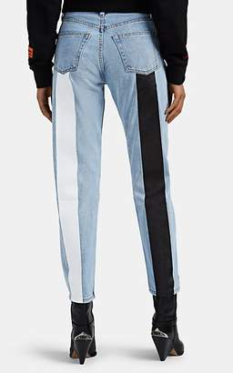 STILL HERE NEW YORK Women's Tate Painted Crop Jeans - Blue