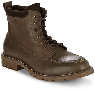 Cole Haan Suede & Leather Lace-Up Boot