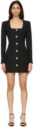 Balmain Black Wool Button Dress
