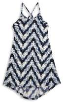 T2 Love Girl's Chevron Printed Dress