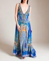 Camilla Palace of Dreams Long V-Neck Drawstring Dress
