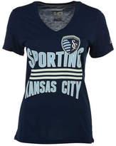 adidas Women's Sporting Kansas City Middle Stripes T-Shirt