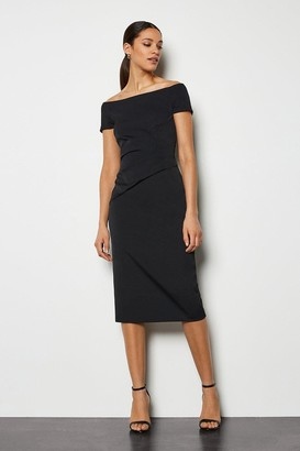 Karen Millen Bardot Ruched Midi Dress