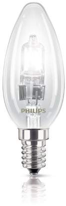 Philips EcoClassic Candle lamp Halogen candle bulb - halogen bulbs (Candle, E14, Clear, D, Warm white, Hg (mercury))
