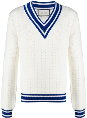 Gucci V-Neck Cricket Jumper