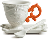 Seletti I-Wares Porcelain Coffee Set - Orange