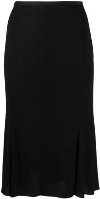 Gianfranco Ferré Pre-Owned 1990s High-Waisted Knee-Length Skirt