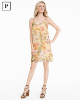 White House Black Market Petite Yellow Floral Print Slip Dress