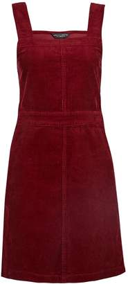 Dorothy Perkins Womens Berry Cord Square Neck Cotton Pinafore Dress