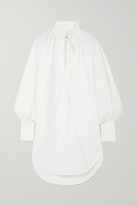 Lee Mathews Sara Cotton-poplin Tunic - White